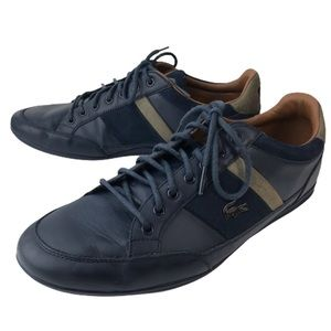 Lacoste Navy Chaymon 617 Lace up Leather Sneakers